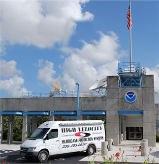High Velocity in Naple Florida Protects the NOAA Building